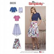 8609 Simplicity Pattern:  Misses' Skirts